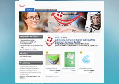 WordPress Website für ein Unternehmen für Zahnschutz in der Schweiz