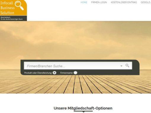 Open Source WordPress Webseite InfoCall aus Köln