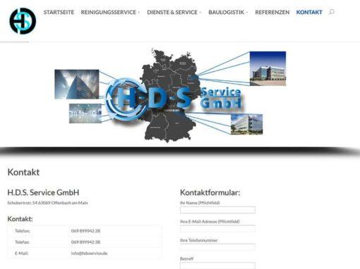 Neue Website / Homepage für HDS Service aus Offenbach