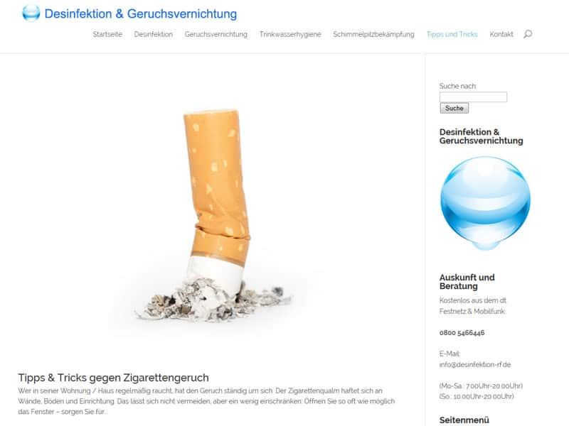 desinfektion-Website Referenz