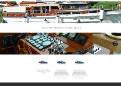 WordPress Website für den Verkauf einer Motoryacht aus Cochem