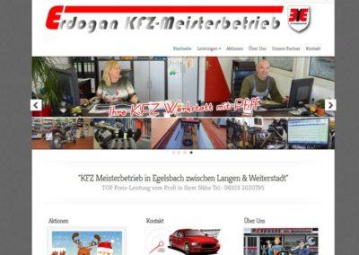 Homepage / Website für eine KFZ Werkstatt in Egelsbach