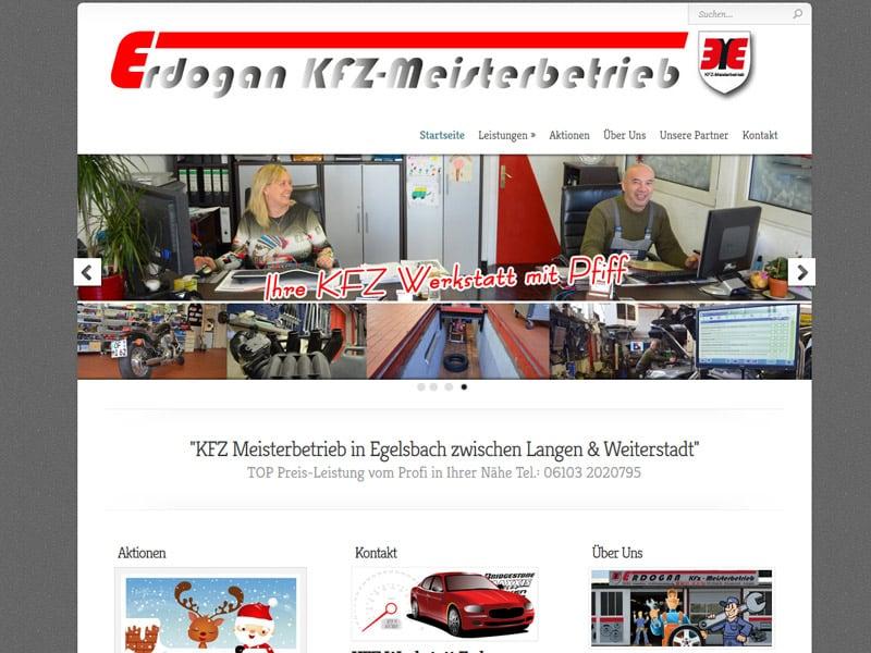 Website erstellen KFZ Werkstatt