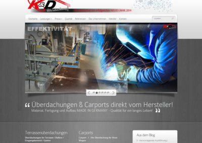 WordPress Homepage für eine Überdachungsfirma aus Rüsselsheim