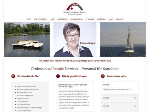 Beratung / Schulung & Basis-Aufbau der Website PPS-Jobs