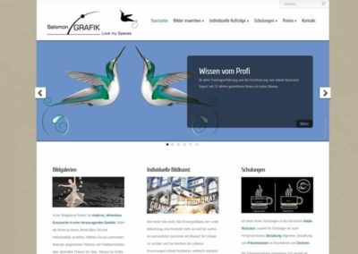 Künstler Grafikdesign WordPress Website aus Dietzenbach