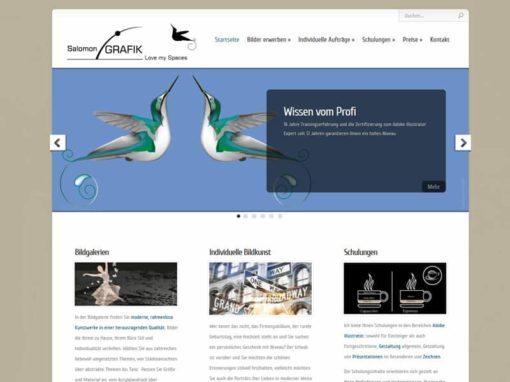 Künstler Grafikdesign WordPress Website aus Dietzenbach