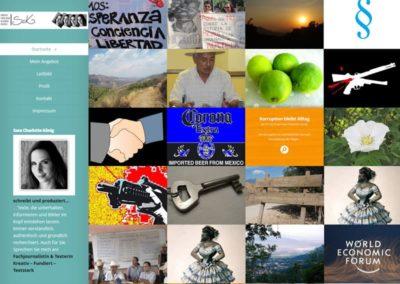 WordPress Website für eine Journalistin als Blog in Mexiko