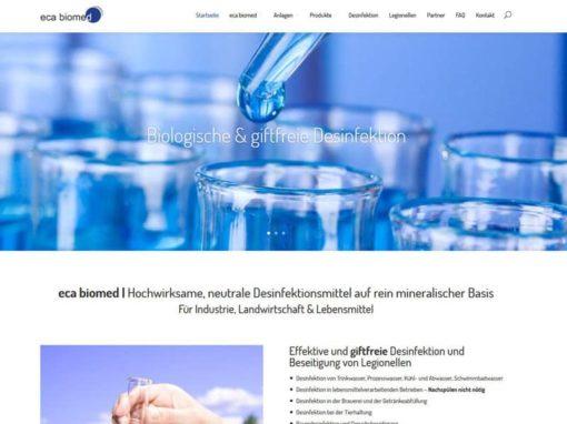 Website für eca biomed aus Riedstadt