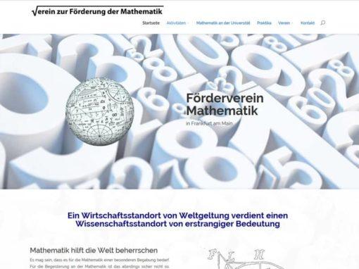 WordPress Website Verein zur Förderung der Mathematik