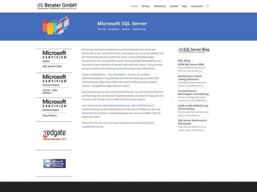 Website Relaunch für den Datenbank Spezialisten aus Erzhausen