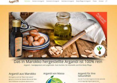Vertriebs-Website für Arganöl aus Dreieich
