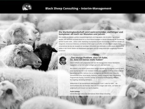 Neue Homepage für Black Sheep Consulting in Dreieich