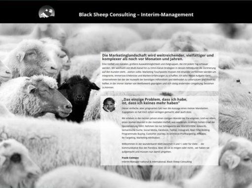 Neue Homepage für Black Sheep Consulting in Dreieich