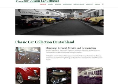 WordPress Website Classic Car Collection Deutschland