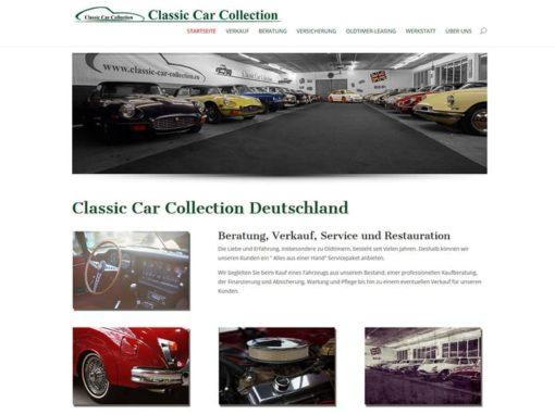 WordPress Website Classic Car Collection Deutschland