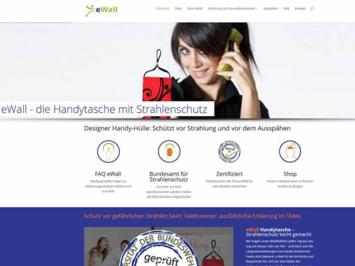 Beratung, Umbau & Aufbau der Marke eWall im Bereich Webdesign / Drucksachen