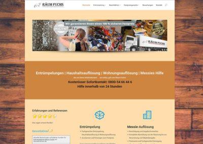 Entrümpelung / Haushaltsauflösung mit einem Homepage Relaunch