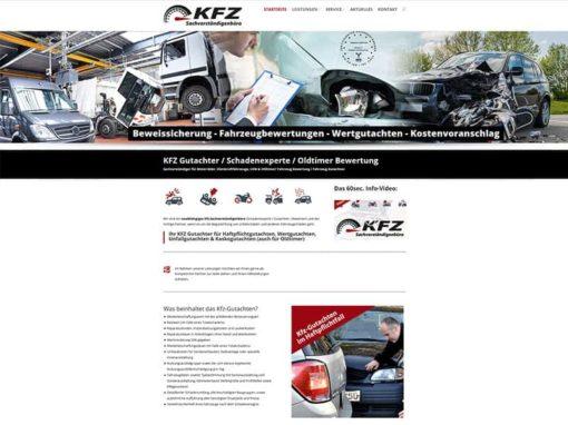 Website für einen Schweizer Kunden: KFZ Gutachter