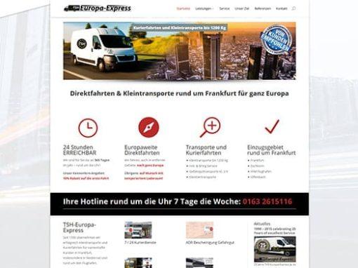 Homepage für ein Frankfurter Transportunternehmen