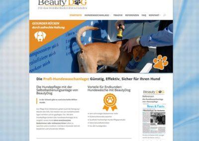 Webdesign für das Schweizer Unternehmen BeautyDog