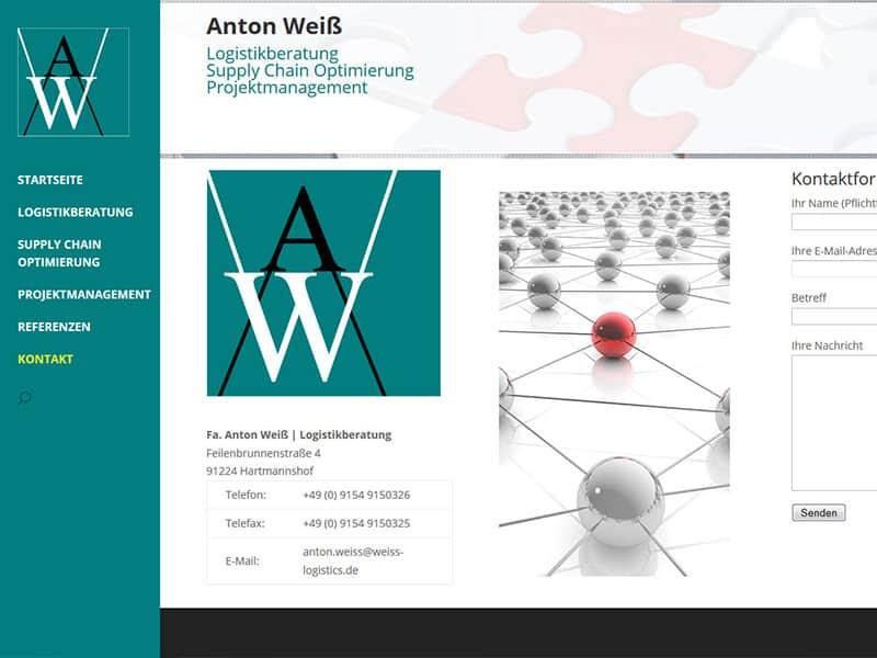 WordPress-Website für einen Logistik-Berater