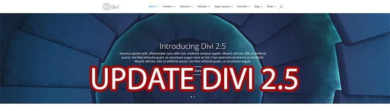Divi Version 2.5 und viele Updates