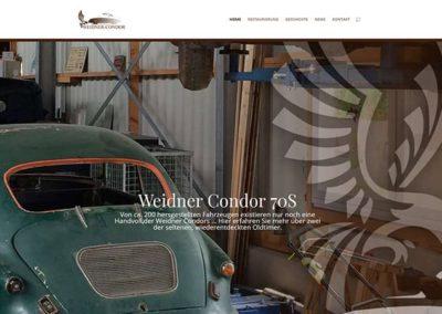 Internetauftritt für den Weidner Condor