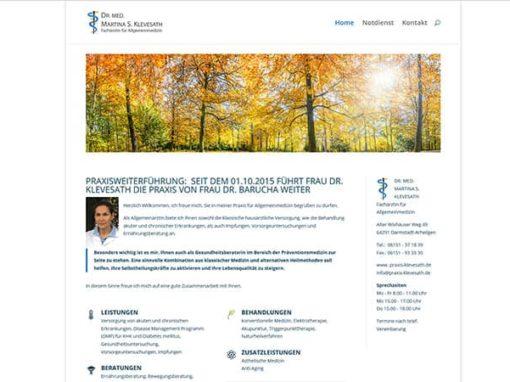 Website für eine Arztpraxis in Darmstadt