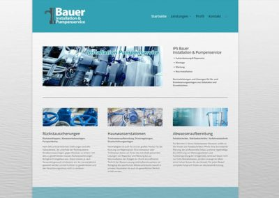 Website Homepage für einen Pumpenservice in Mörfelden Walldorf