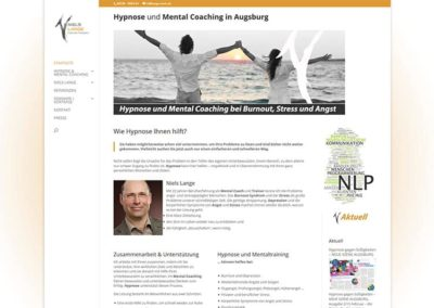 Erstellung Website / Homepage für Mental Coaching in Augsburg