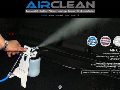 Webdesign Fahrzeug-Desinfektion (Erstellung mit WordPress 4.4.2)