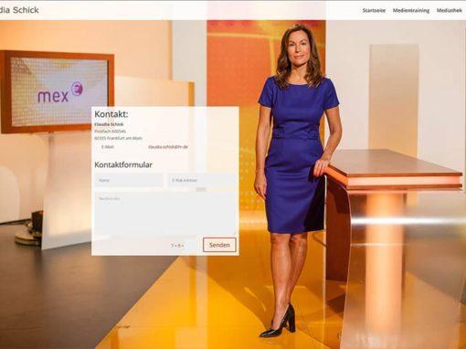 Website für eine Moderatorin • Medientrainerin • Journalistin