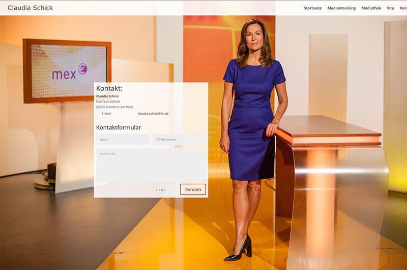 Website/Homepage Journalistin Frankfurt