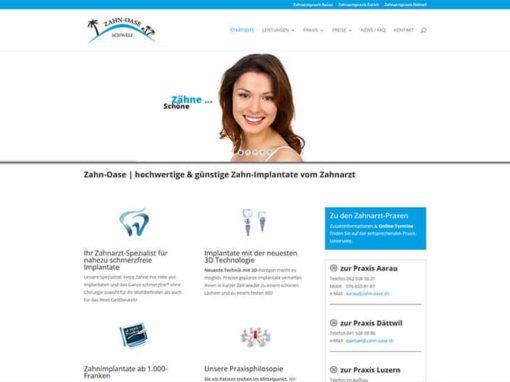 Webdesign Relaunch Zahnarzt-Praxis Schweiz