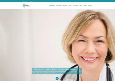 Website für eine Ärztin aus Frankfurt