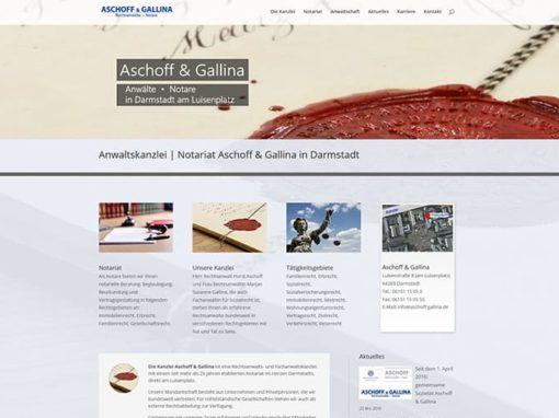 """Neue """"Homepage"""" für eine Kanzlei in Darmstadt"""