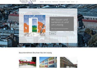 Relaunch Homepage für ein Bauunternehmen aus Leipzig
