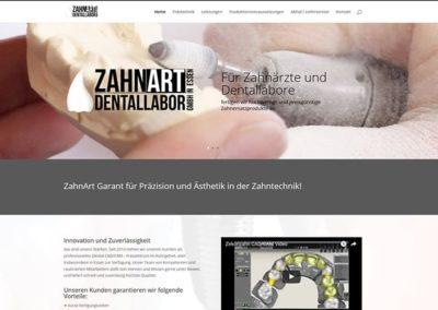 Homepage-Erstellung für ein Dentallabor in Essen
