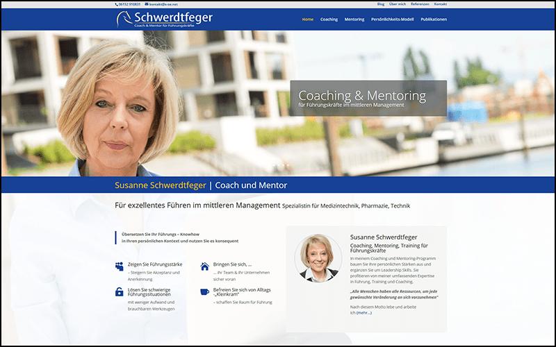 Divi Website für Coach und Mentor