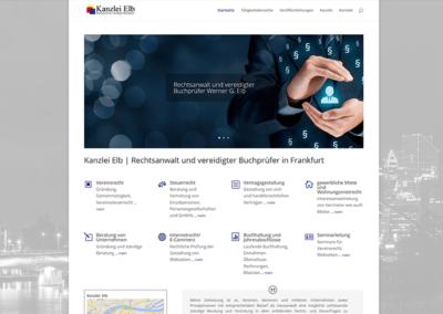 Homepage für einen Rechtsanwalt in Frankfurt