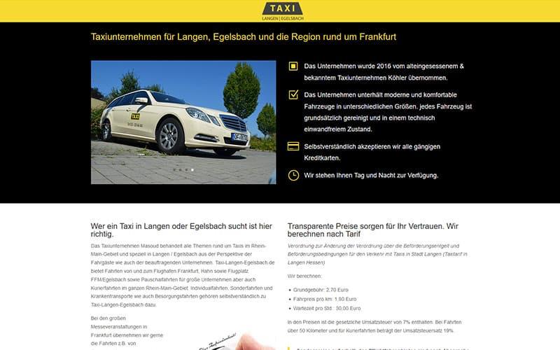 Taxi langen Egelsbach Mobil Ansicht