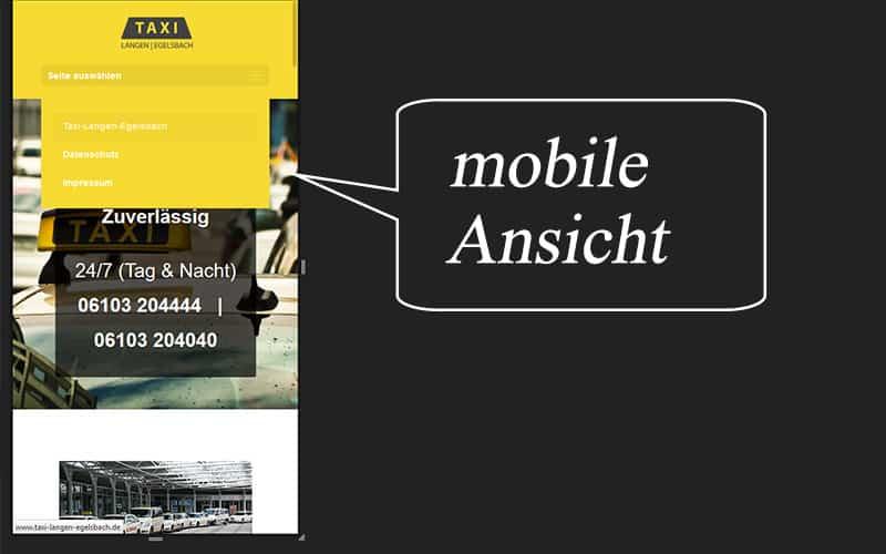 Taxi Unternehmen Homepage
