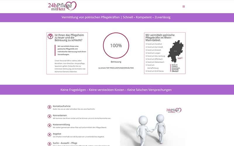 Homepage für Pflegedienst