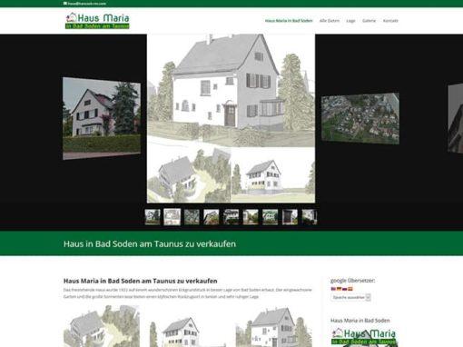 Haus Verkauf Website zur Immoscout Unterstützung