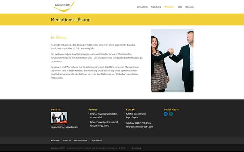 Neue Homepage an einem Tag