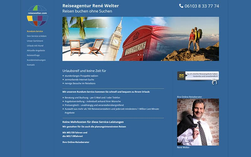 Referenzen Website Reise Agentur