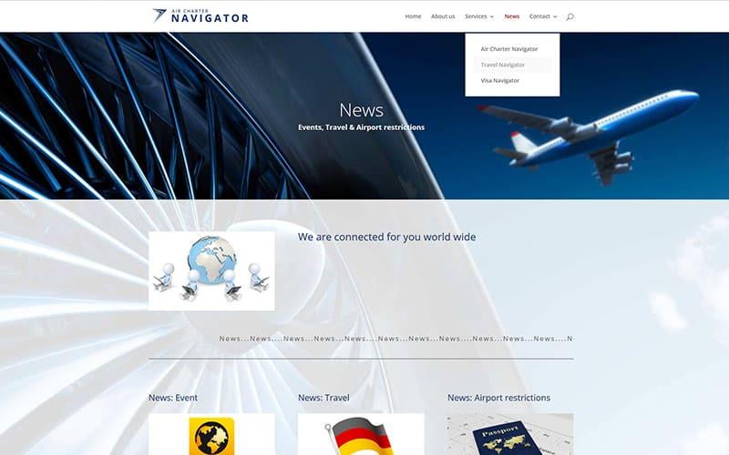 Kontakt Website air Charter