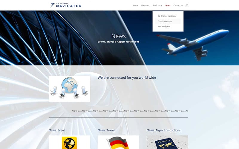 Kontakt Website air Charter