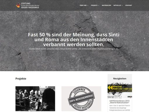 Website für eine Stiftung